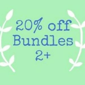 20% off of Bundles of 2 or more for a limited time